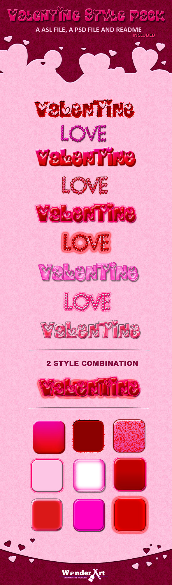 Valentine Style Pack - Text Effects Styles