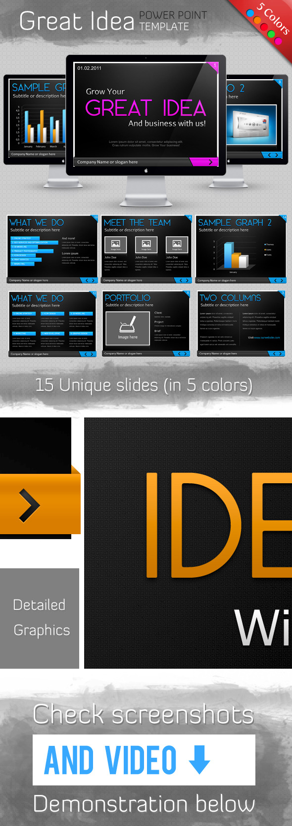Idea Template - PowerPoint Templates Presentation Templates