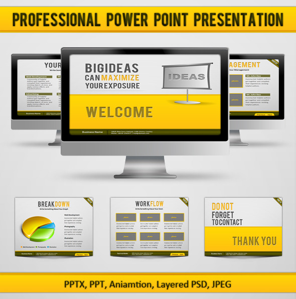 Professional Power Point Presentation - PowerPoint Templates Presentation Templates