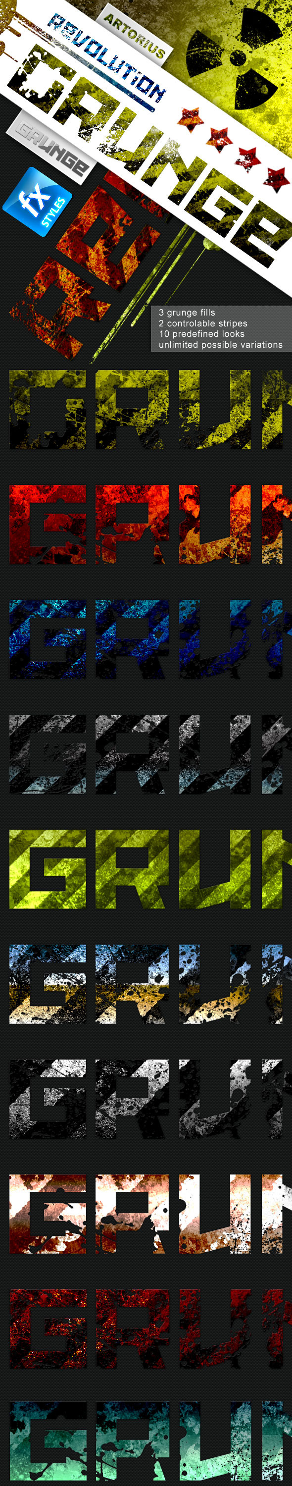 Grunge Revolution - Text Effects - Text Effects Styles