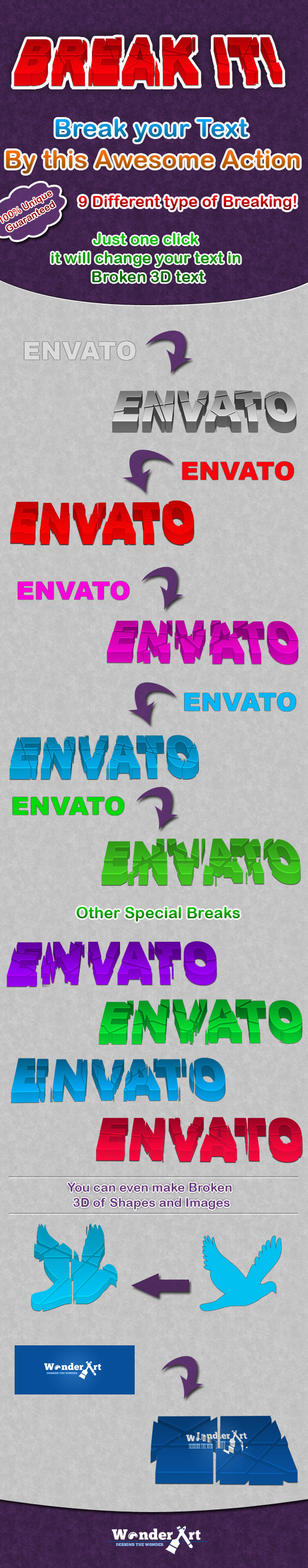 Break It !! - Text Effects Actions