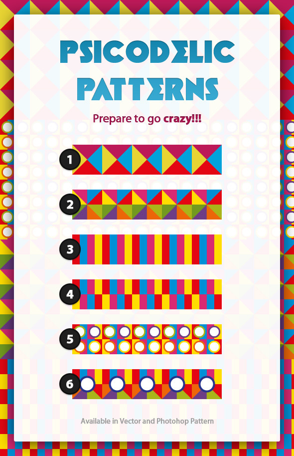 Psicodelic Patterns - Abstract Textures / Fills / Patterns