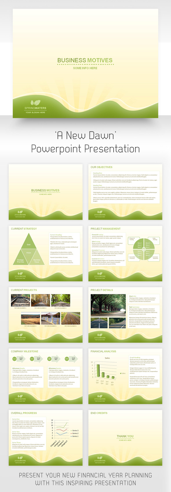 'A New Dawn' Powerpoint Presentation - PowerPoint Templates Presentation Templates