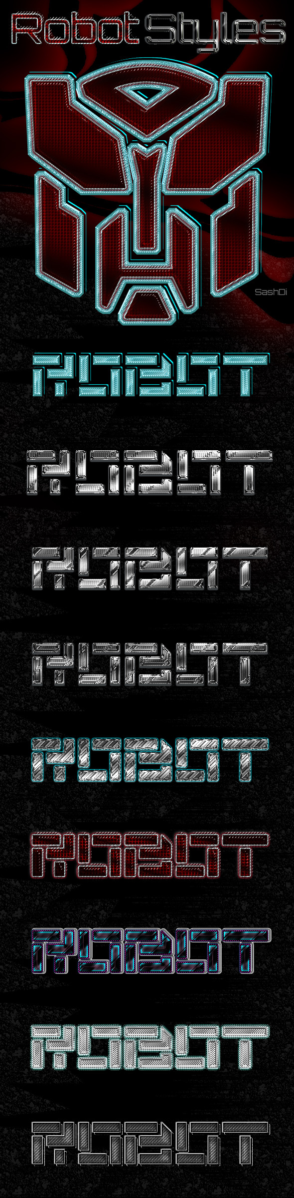 Robot Styles - Text Effects Styles