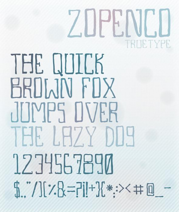 Zopenco TrueType - Comic Decorative