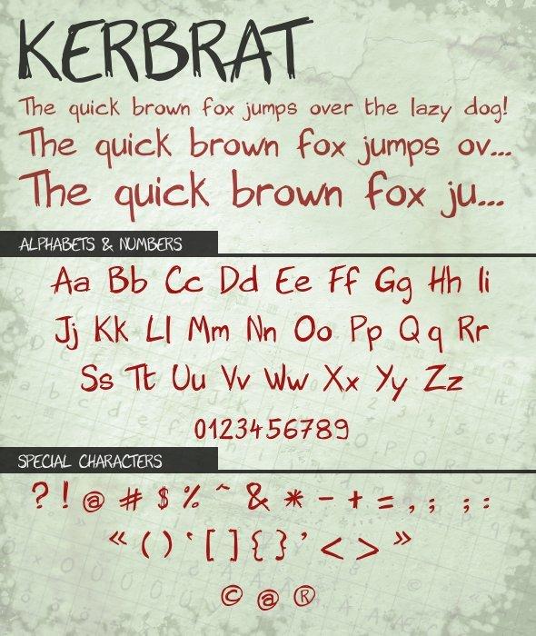 Kerbrat - Hand-writing Script