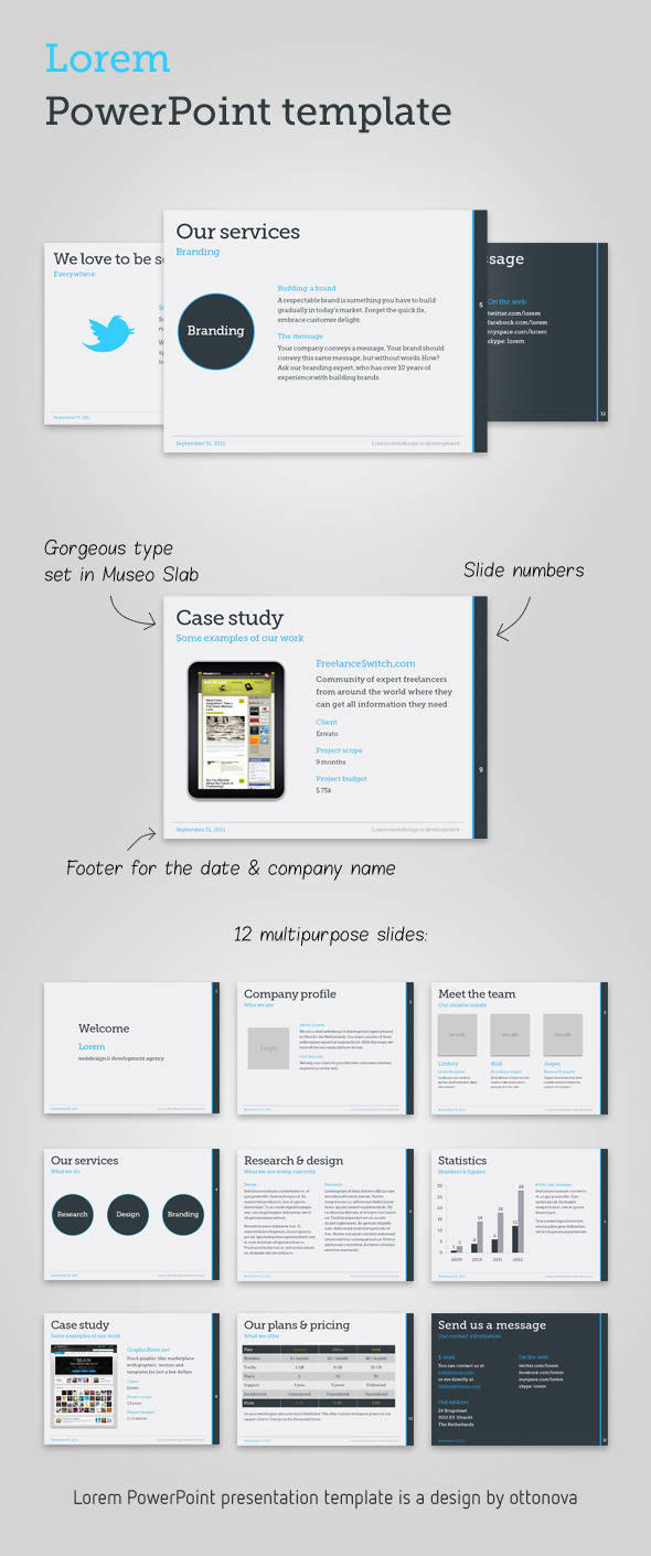 lorem powerpoint templateottonova | graphicriver, Presentation templates