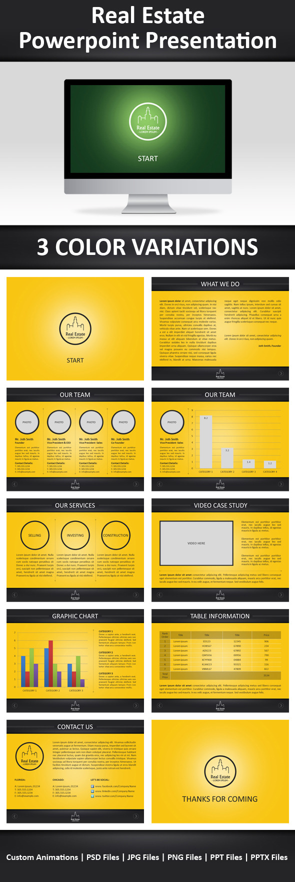 Real Estate Powerpoint Template - Business PowerPoint Templates