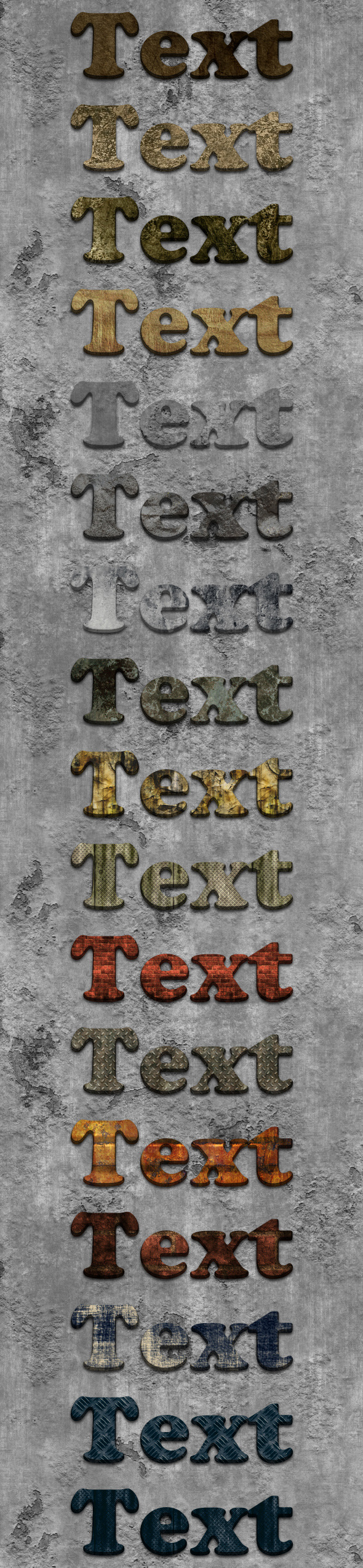 3D Grungy Styles - Text Effects Styles