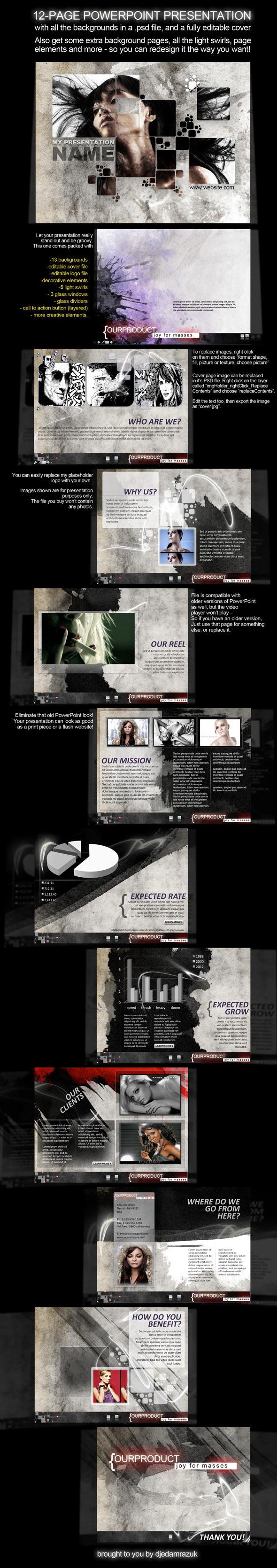 12-Page PowerPoint Presentation - Splash - Creative PowerPoint Templates