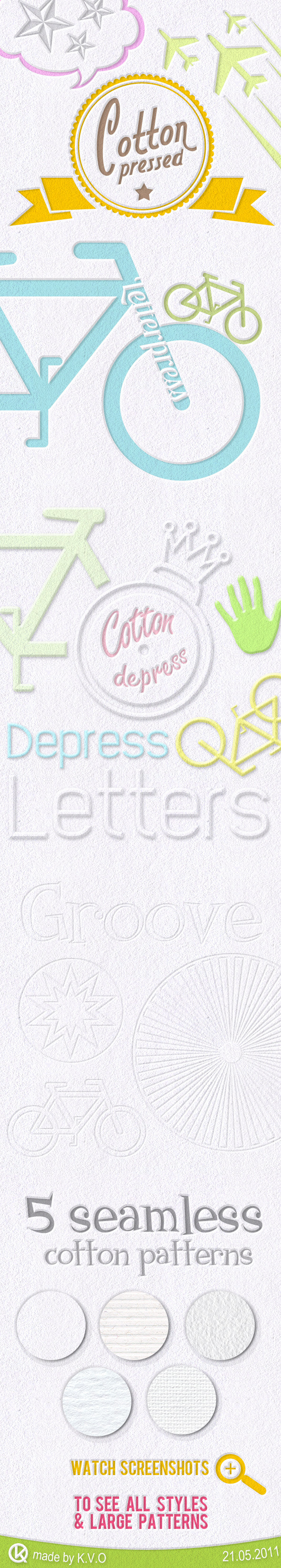 Cotton Pressed Styles - Text Effects Styles