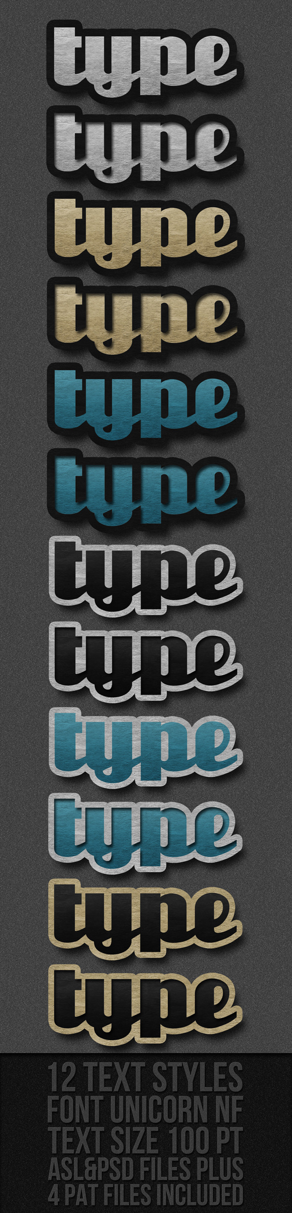 Text Styles - Text Effects Styles