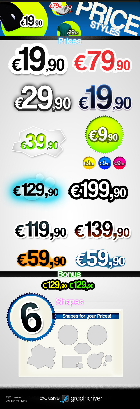 Prices - Text Styles - Styles Illustrator