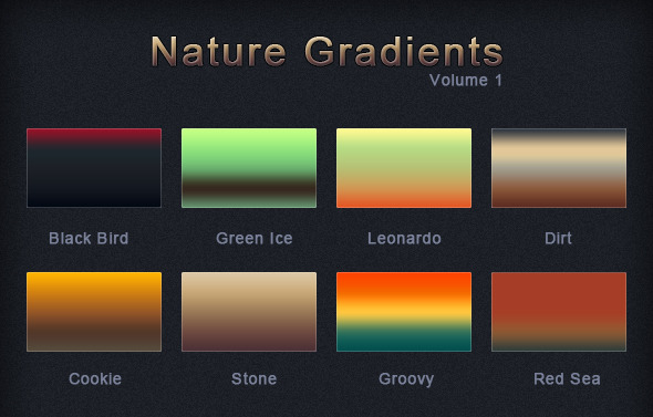 Nature Gradients Volume 1 - Techno / Futuristic Textures / Fills / Patterns