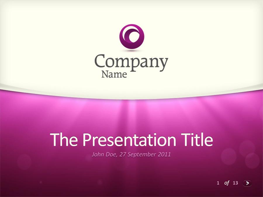 moving lights – powerpoint templateorange_box | graphicriver, Presentation templates