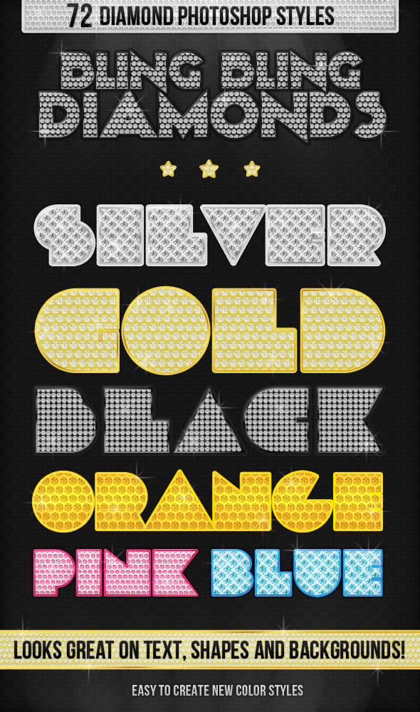 Bling Bling Diamonds Styles - Text Effects Styles