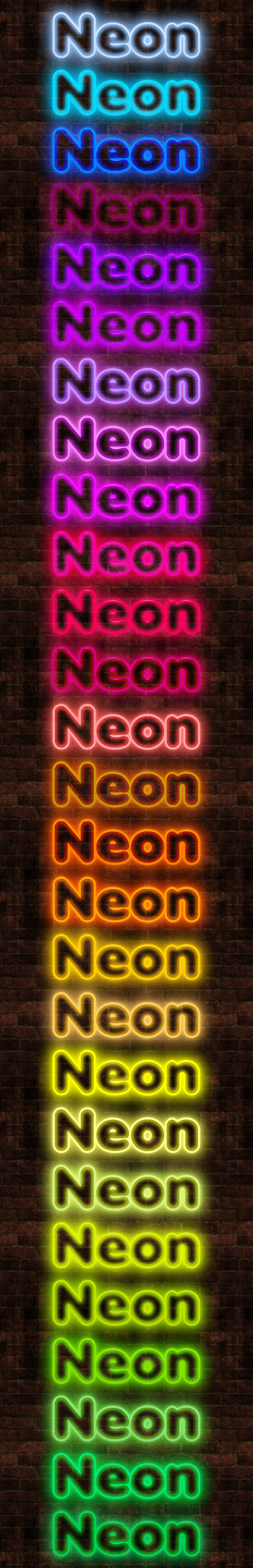 27 Neon Styles - Text Effects Styles
