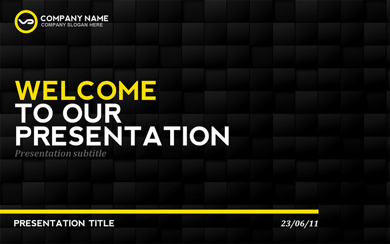 black  u0026 yellow presentation template by erigonn