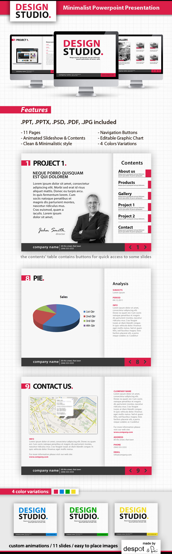 minimalist powerpoint templatedespotdesign | graphicriver, Modern powerpoint