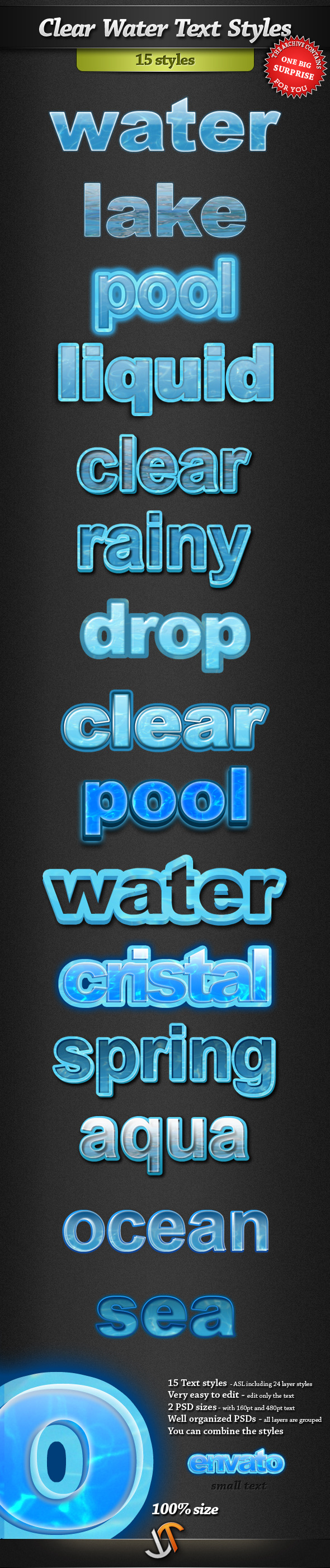 Clear Water Text Styles - Text Effects Styles
