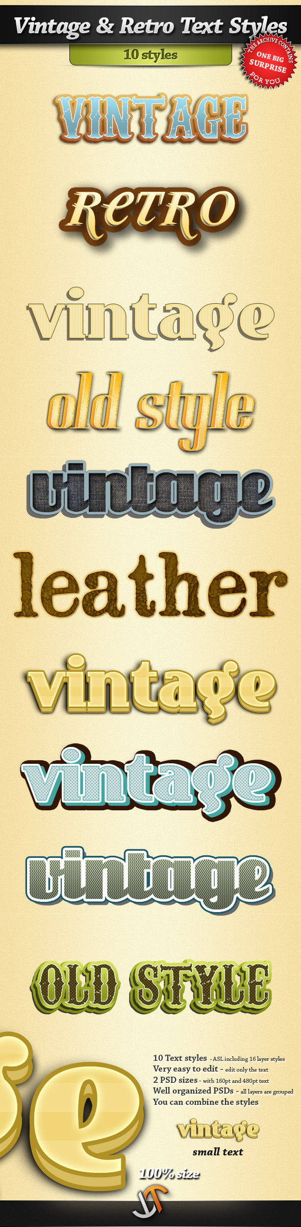 Vintage and Retro Text Styles - Text Effects Styles