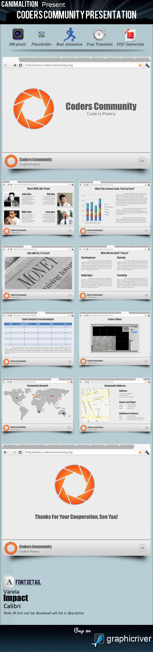Coders Community Presentation Templates - PowerPoint Templates Presentation Templates