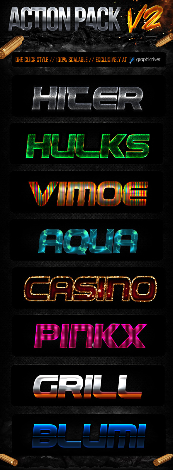 Action Style Pack V2 - Text Effects Styles