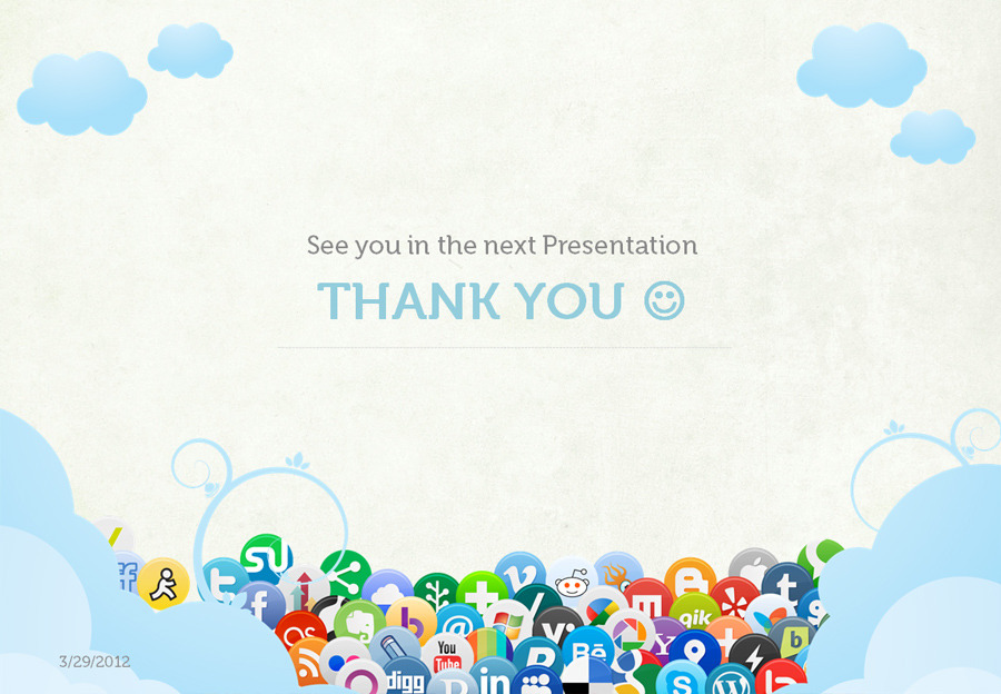 social media presentation templateafahmy | graphicriver, Presentation templates