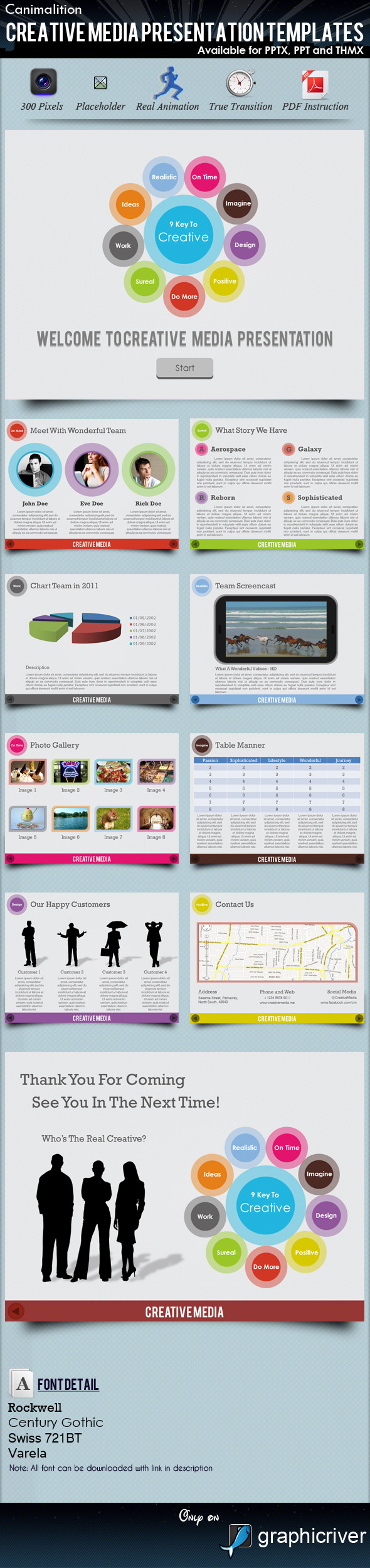 Creative Media Presentation Templates - Creative PowerPoint Templates