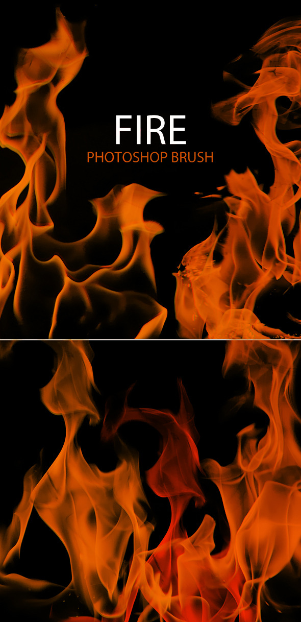 10 Fire Flames Photoshop Brush  - Brushes Photoshop