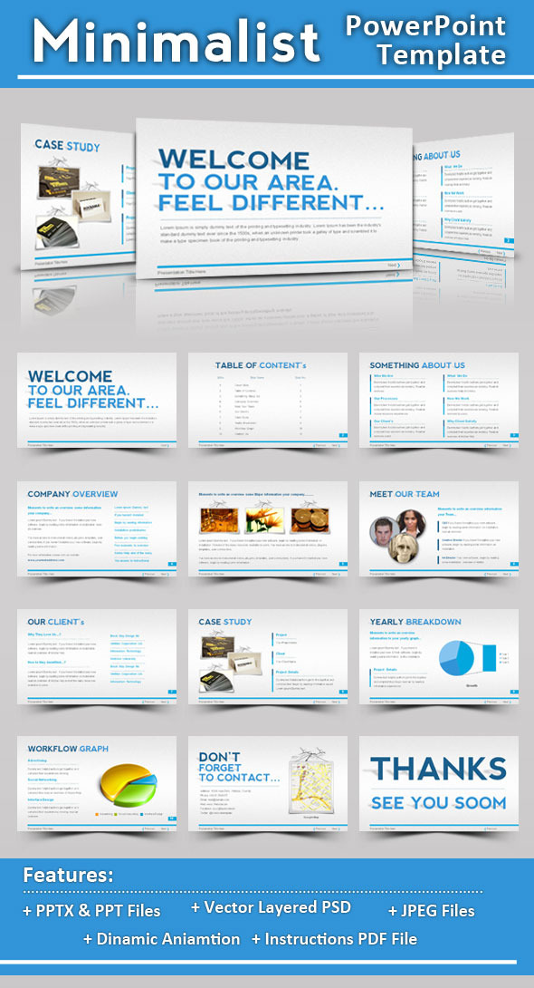 Minimalist Powerpoint Template By Femo Graphicriver