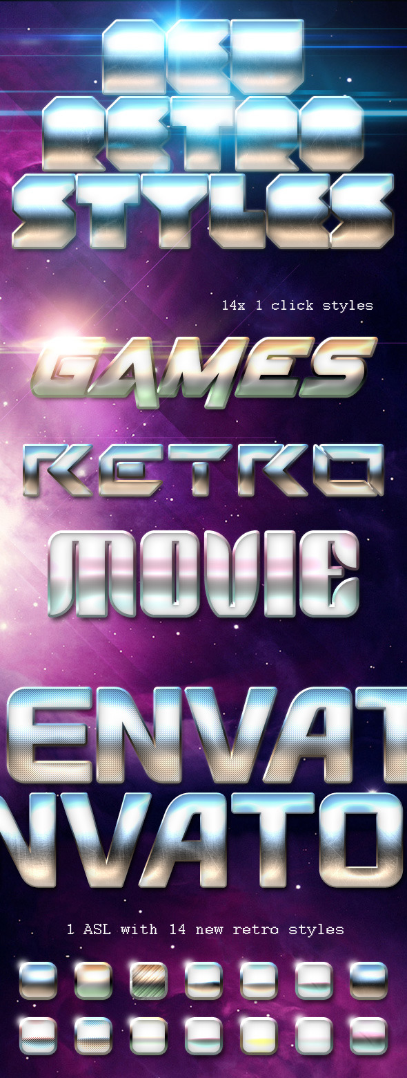 New Retro Styles - Text Effects Styles