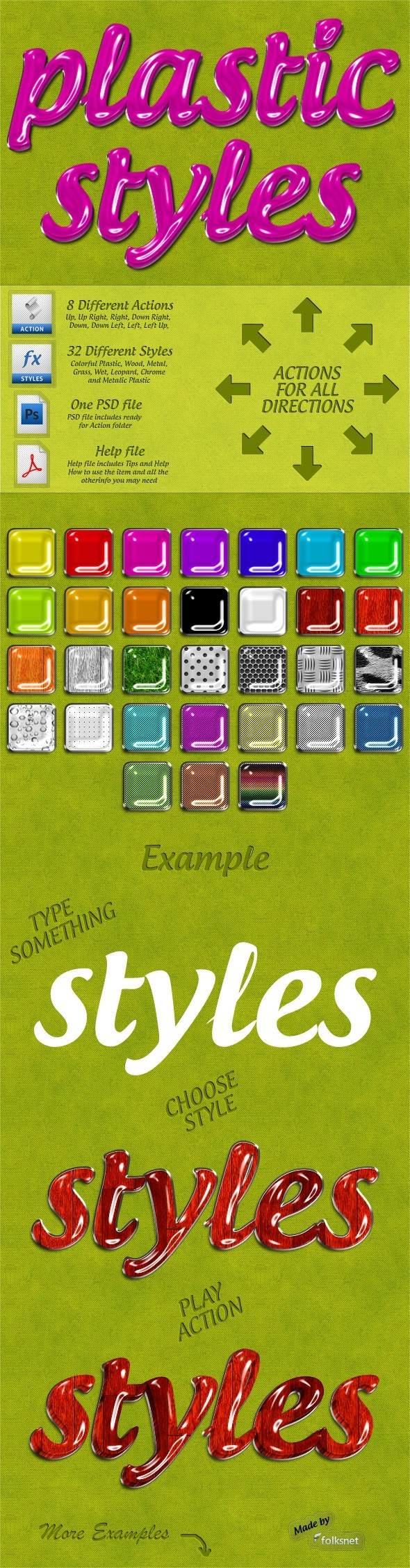 Plastic Styles - Text Effects Styles