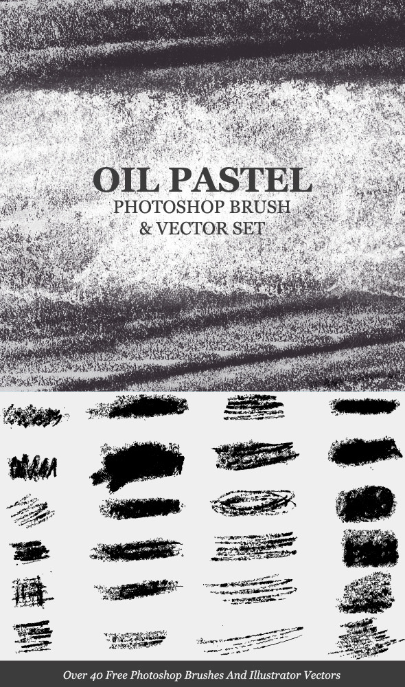 Oil Pastel Strokes And Smudges Ps Brush By Rocketmagnet Graphicriver