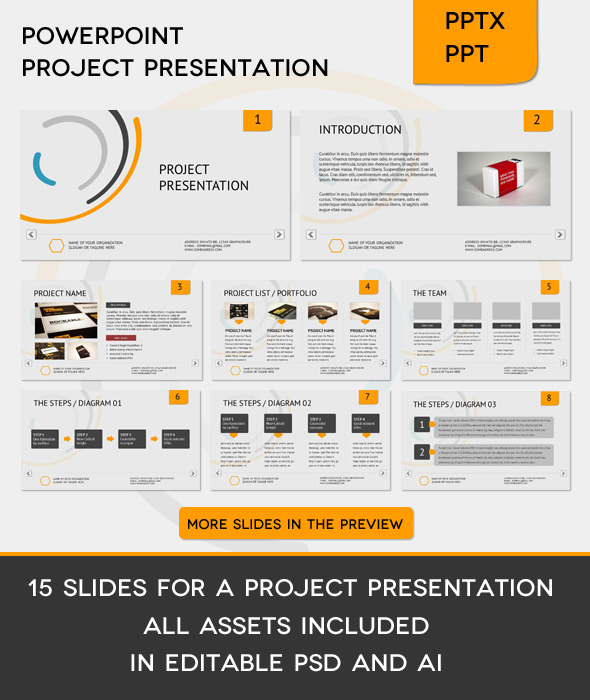 Corporate Project Presentation - PowerPoint Templates Presentation Templates