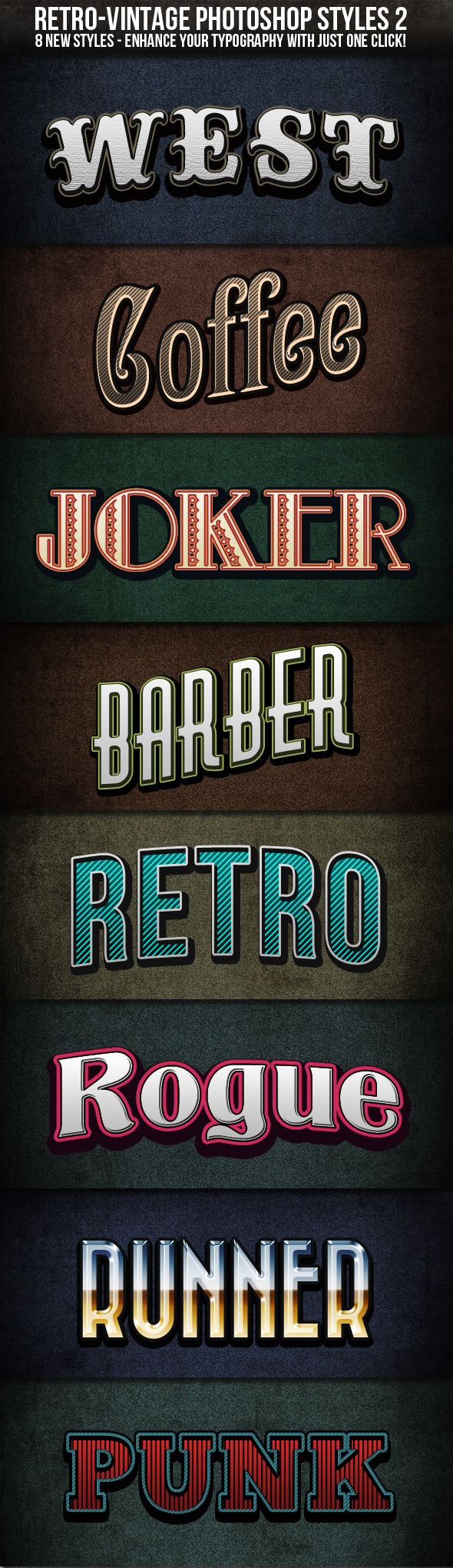Retro-Vintage Styles 2 - Photoshop Add-ons