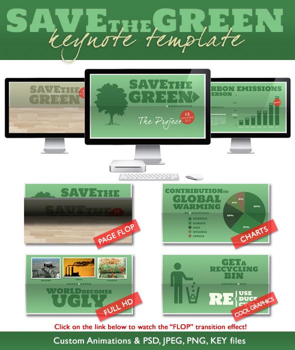 Save The Green - Nature Presentation (Full HD) - Nature Keynote Templates