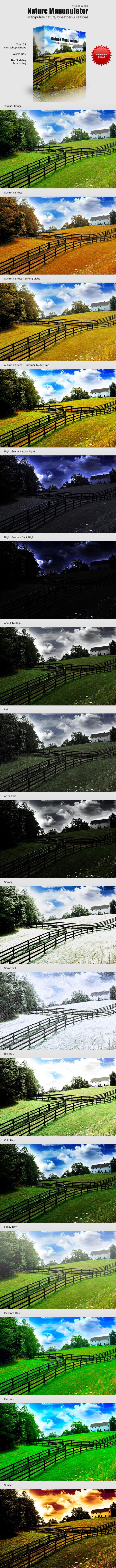Nature Manipulator Actions Bundle - Photoshop Add-ons