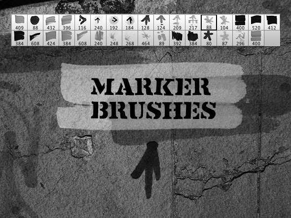 Marker Elements Brush Set - Grunge Brushes