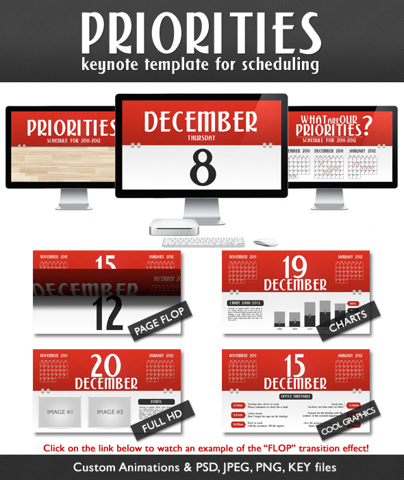 Priorities - Schedule Presentation (Full HD) - Creative Keynote Templates