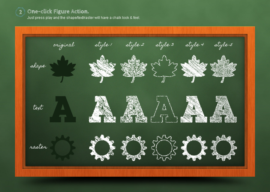 Chalkboard Generator: Action + Layer Styles by aurove | GraphicRiver