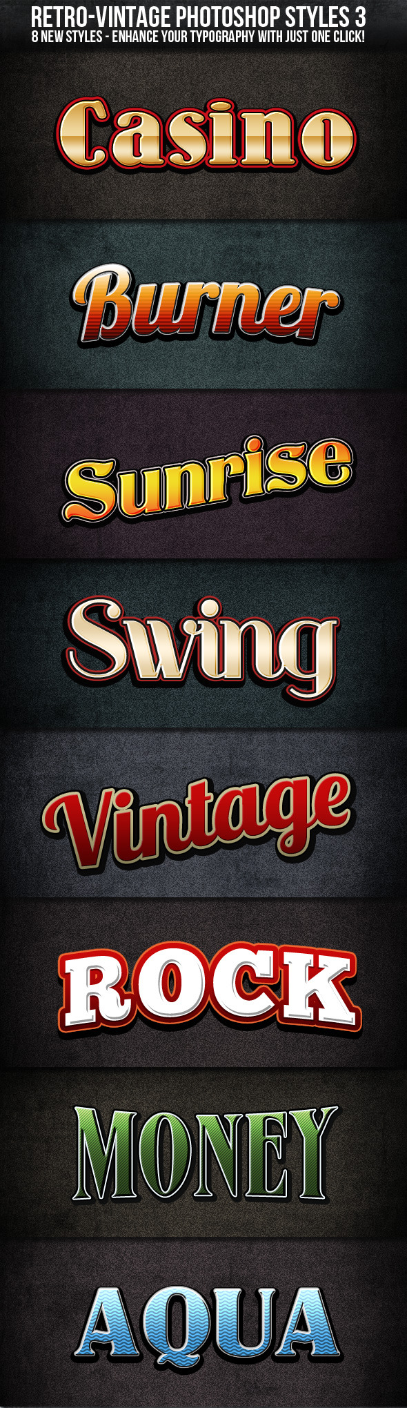 Retro Vintage Styles 3 - Text Effects Styles