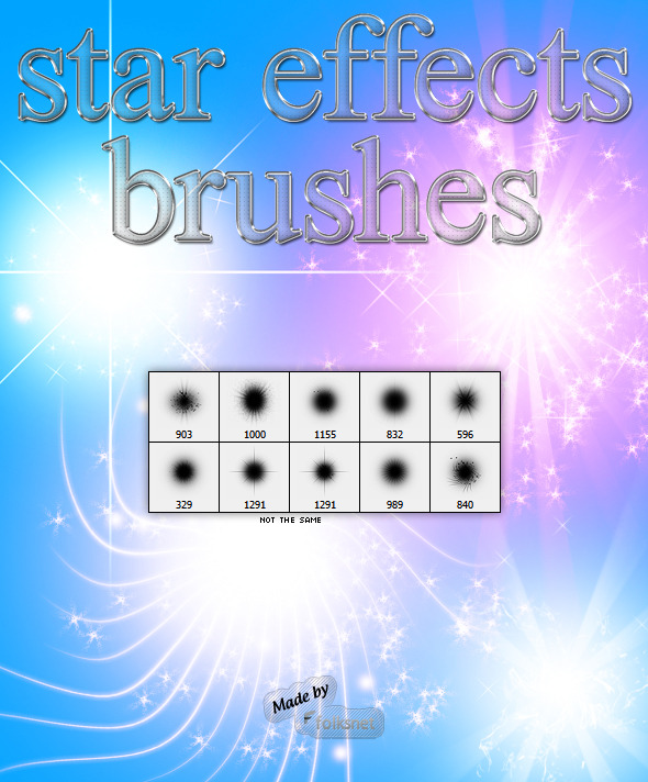 Star Effects Brushes - Brushes Photoshop