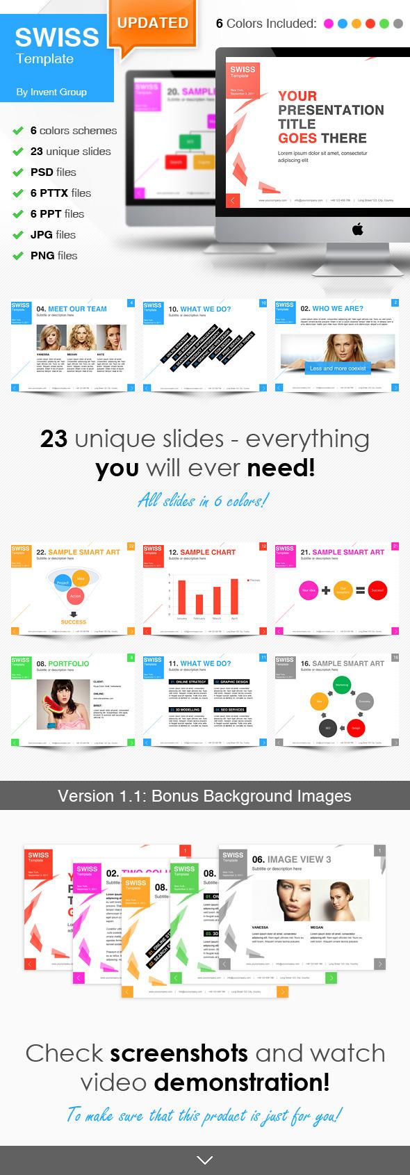 Swiss Idea Template - PowerPoint Templates Presentation Templates
