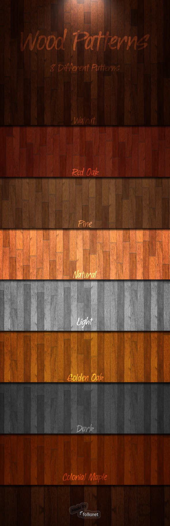 Wood Patterns 1.0 - Textures / Fills / Patterns Photoshop
