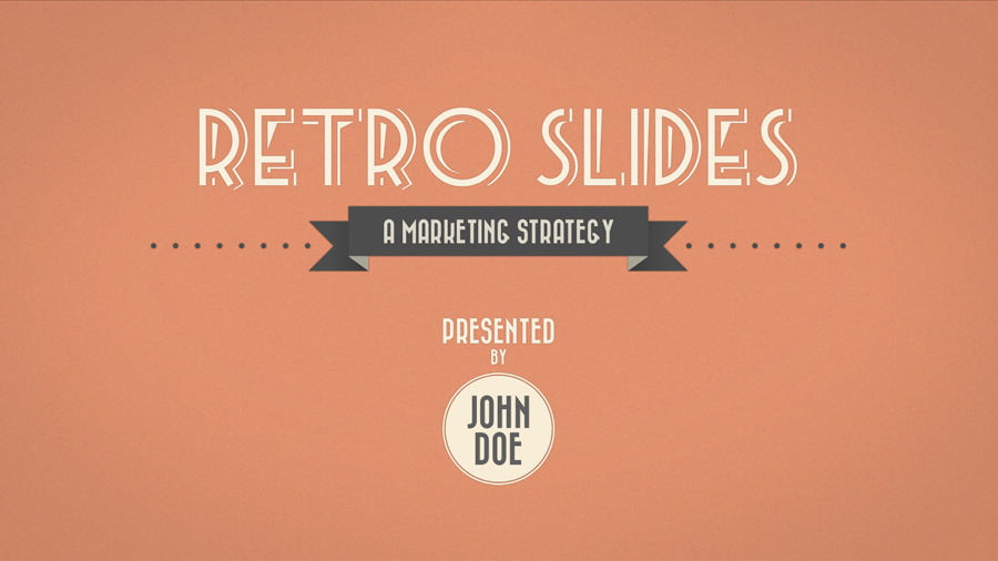 retro slides keynote template full hd by opendept graphicriver