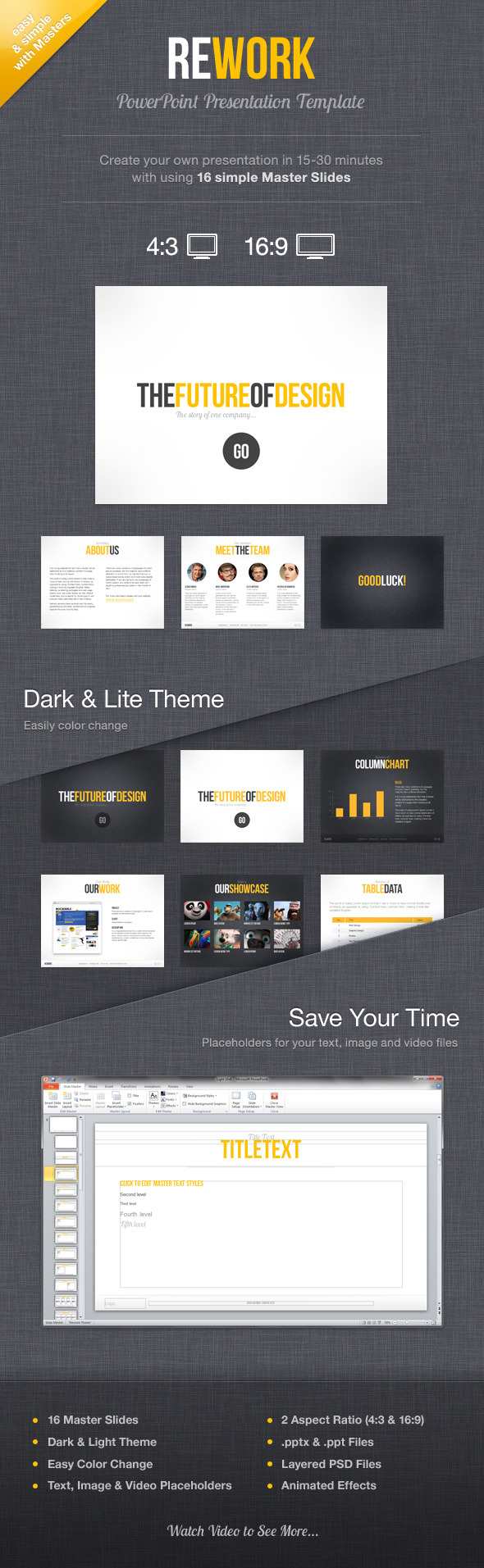 Rework PowerPoint Presentation Template - PowerPoint Templates Presentation Templates