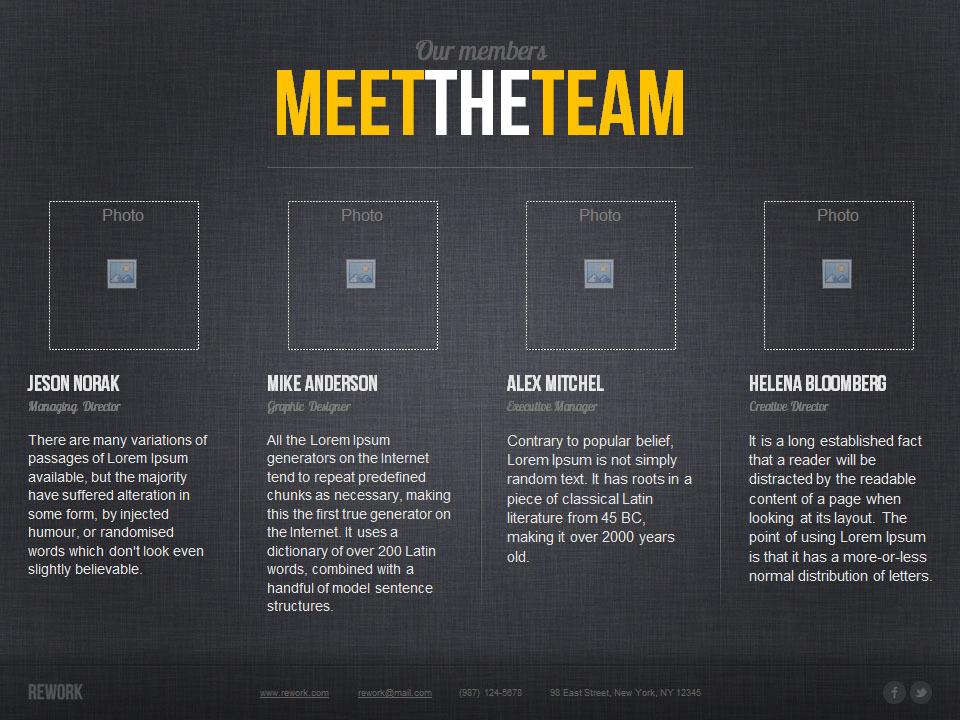 Rework PowerPoint Presentation Template
