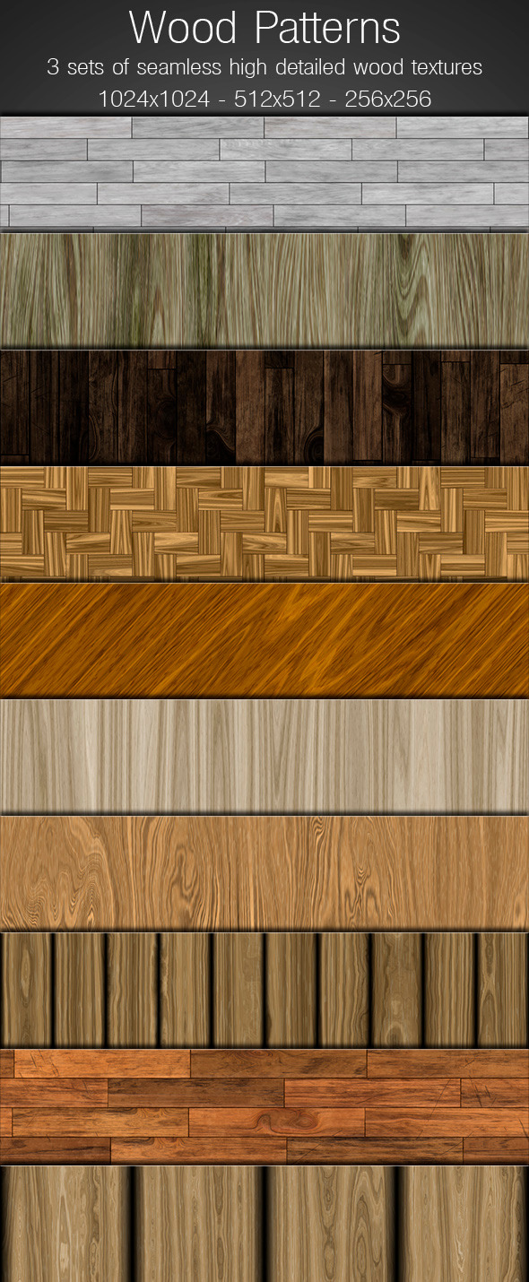 Wood Patterns - Photoshop Add-ons