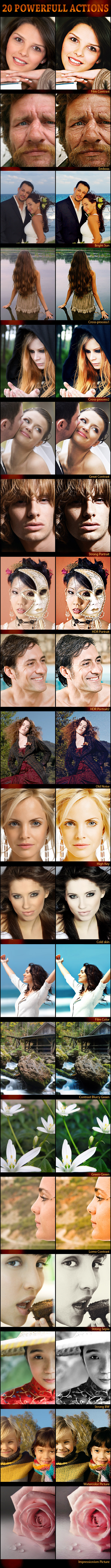 20 Powerfull Actions - Photo Effects Actions